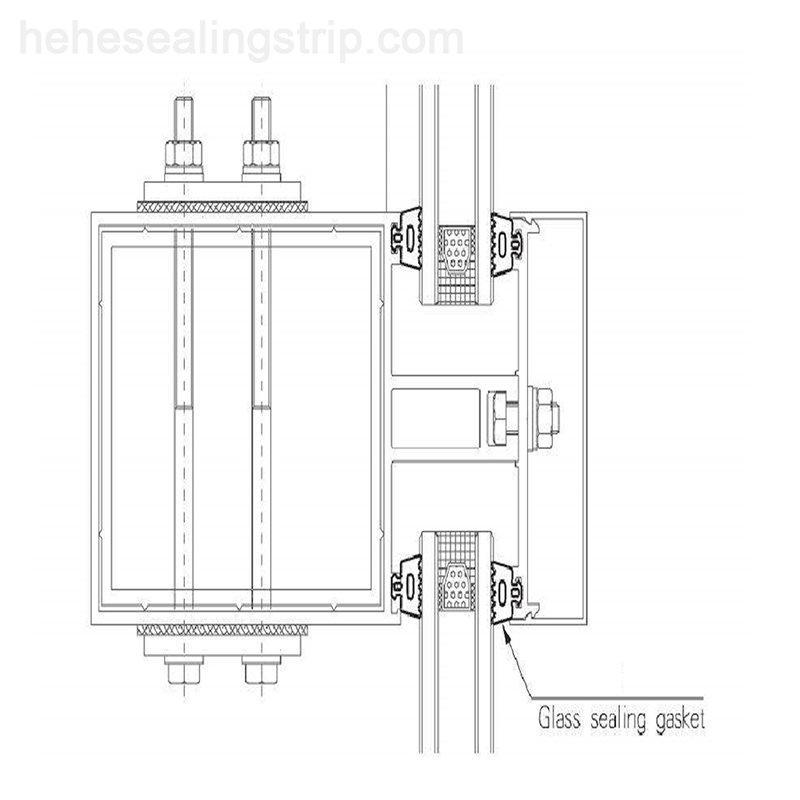TPE TPV TPO Curtain rubber strip  H472G