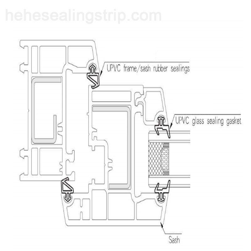 EPDM- UPVC Sealing Rubber Strip  EP029L
