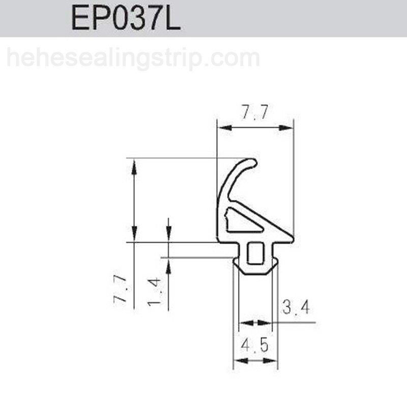 EPDM- UPVC Sealing Rubber Strip EP037L