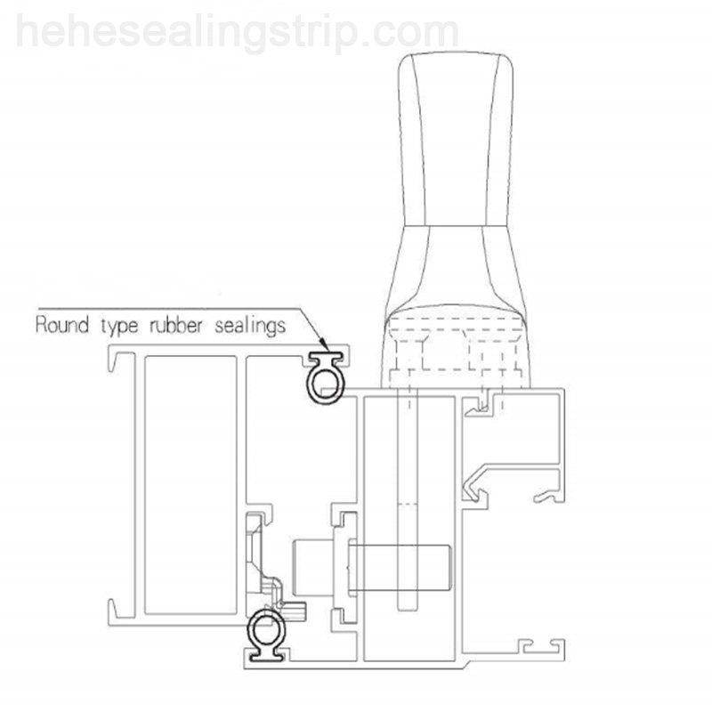 EPDM-Frame&Sash Sealing Rubber  EP084A