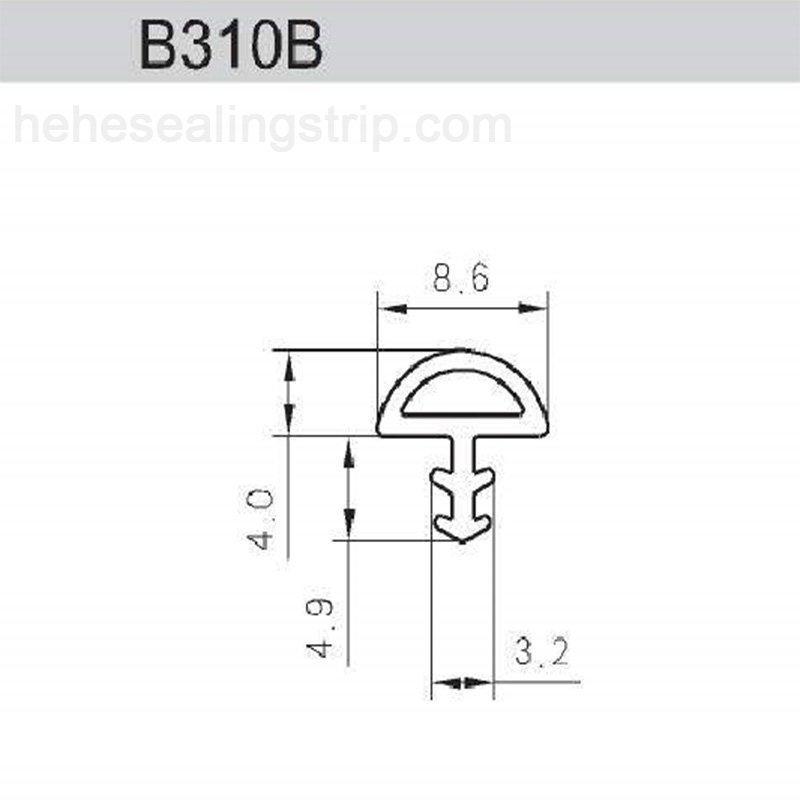 Reformative PVC-Frame Sash strip B310B