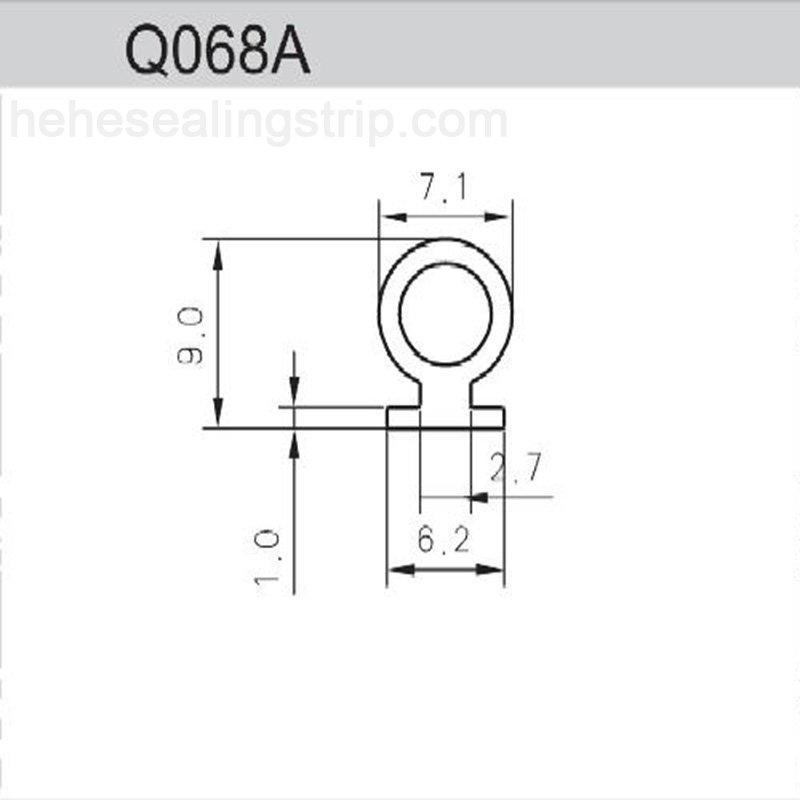 Silicon Material-Frame&Sash Sealing Rubber Strips Q068A