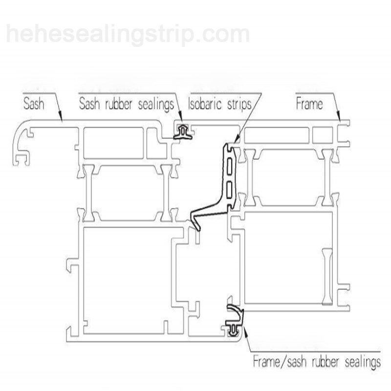 Silicon Material-Frame&Sash Sealing Rubber Strips Q078K