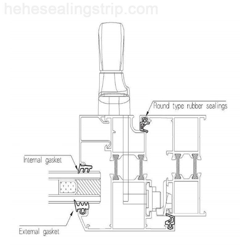 EPDM-Glazing Rubber Series EP168E