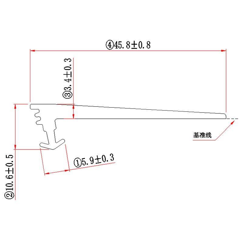 TPE TPV TPO Conservatory Rubber Strip  G349G